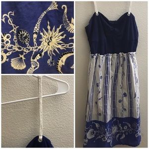 Anthropologie Dresses - Anthropologie Stunning Mermaid Nautical Dress!